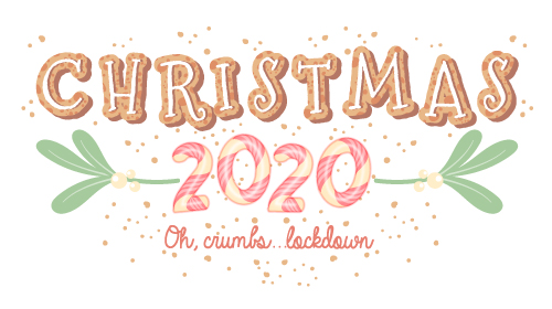 Christmas 2020 lockdown Illustrated logo
